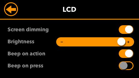 LCD-Settings