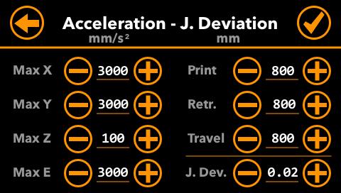 Acceleration-Settings